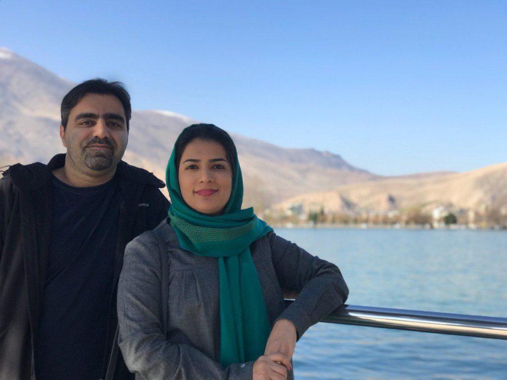 تبسم لطیفی و همسرش